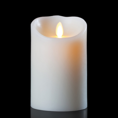 Luminara Ivory 3.5 x 5 Inch Pillar Candle - Remote Ready