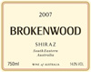 Brokenwood Area Blend Shiraz 2007
