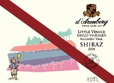 d'Arenberg Little Venice Single Vineyard Shiraz 2010