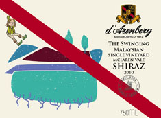 d'Arenberg The Swinging Malaysian Single Vineyard Shiraz 2010