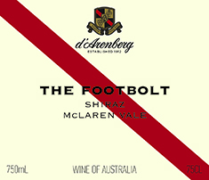 d'Arenberg The Footbolt Shiraz 2016 (1.5L) MAIN
