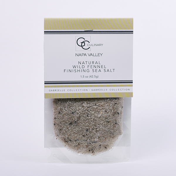 Natural Wild Fennel Finishing Sea Salt 1.5oz LARGE