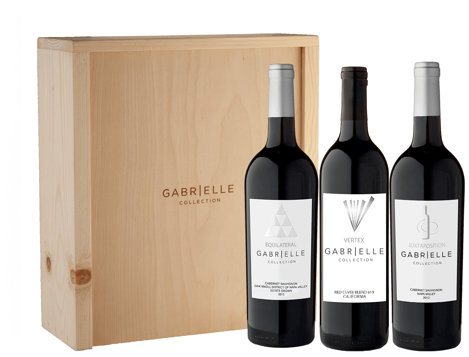 Gabrielle Collection Trio in Wood Gift Box