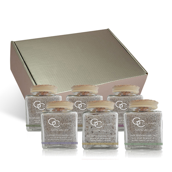 Napa Valley Estate Ultimate Sea Salt & Pepper Collection in Silver Gift Box