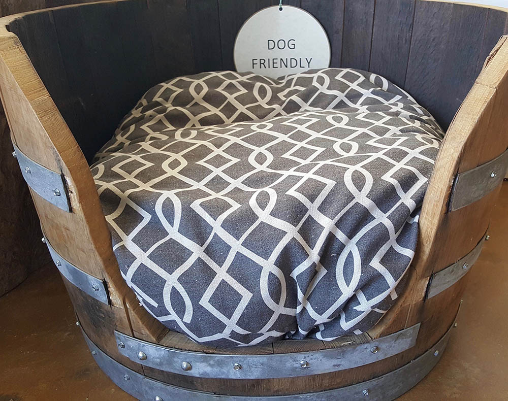 Wine Barrel Dog Bed THUMBNAIL