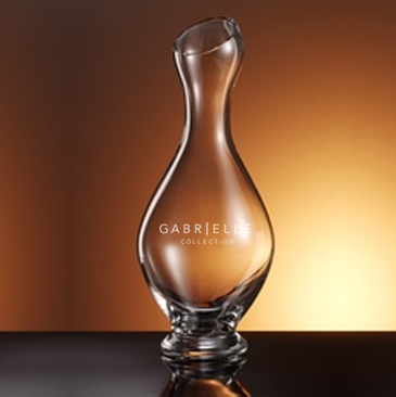 America Decanter, unleaded Italian crystal, personalized