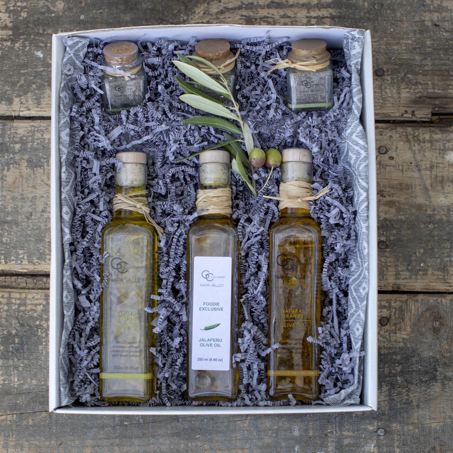 Olive Oil & Finishing Sea Salt Trio