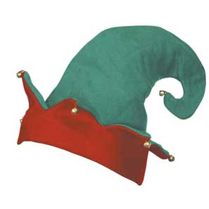 Red & Green Elf Hat