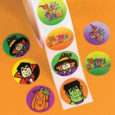 Halloween Stickers Roll