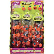 Lotsa Lites! Jumbo Flashing Pumpkin Necklace