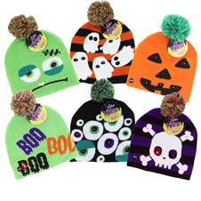 Lotsa Lights Flashing Knit Hats