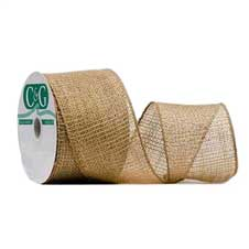 #40 Burlap Ribbon, Natural