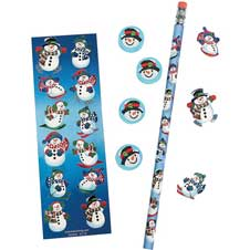 Snowman Stationary Set