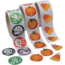 Paper Halloween Prism Stickers