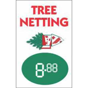 "Custom  Price Signs 14""x22"" Tree Netting"