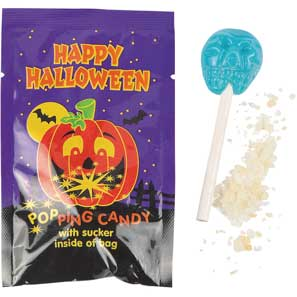 Halloween Suckers w/Popping Candy