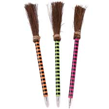 Striped Witch Broom Pen