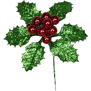 Holly Leaf w/Plated Balls