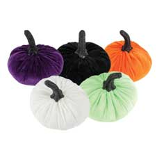 Velvet Pumpkin Table Decor