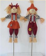 "36"" Black and White Checked Scarecrows_THUMBNAIL"