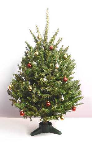 fraser fir decorated table top christmas tree - Table Top Christmas Trees