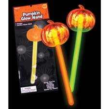 Glow Stick Pumpkin Wand
