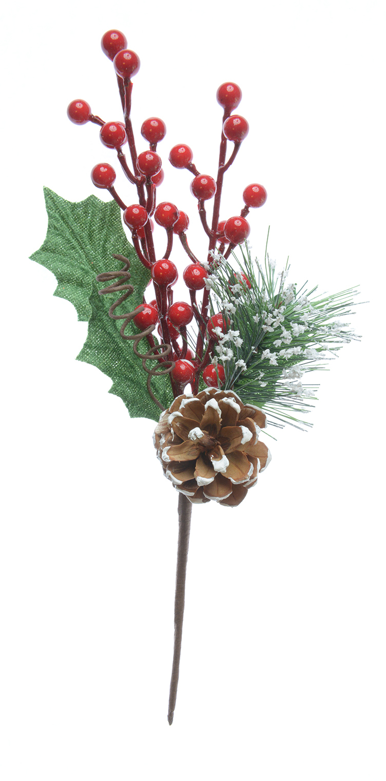 Pine Cone Berry & Holly Pick