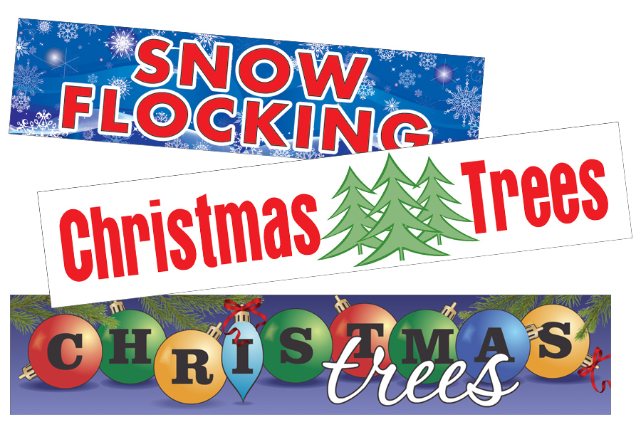 Christmas tree lot supplies, Banners