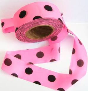 Superior Flagging Tape Glo Dot Pink Black