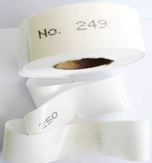 Numbered Flagging Tape -WHITE