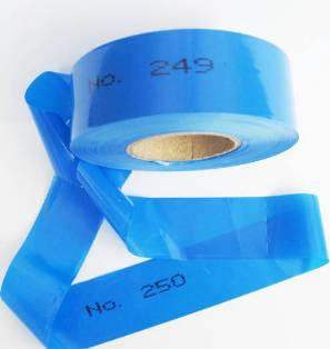 Numbered Flagging Tape -BLUE