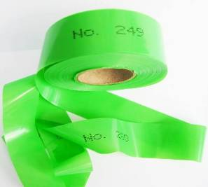 Numbered Flagging Tape - GREEN
