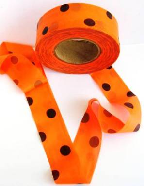 Superior Flagging Tape Glo Dot Orange Black