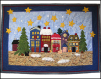 "2008 Center Medallion ""O Little Town"" Wallhanging"