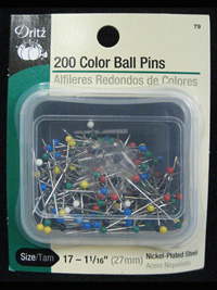 Dritz - 200 Color Ball Pins