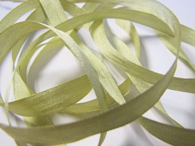 YLI Silk Ribbon, 7mm — 170 (light olive green)
