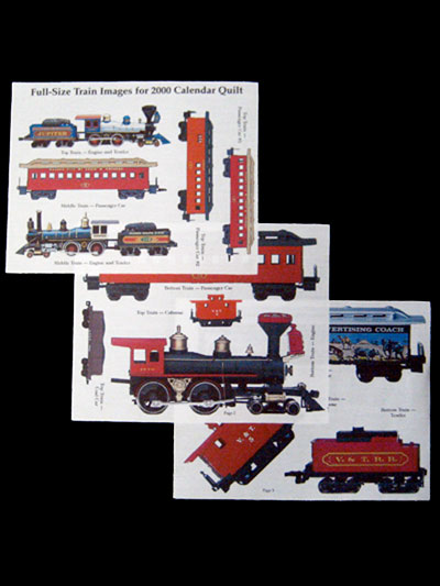 Piecemakers 2000 Calendar Photo Transfers for Trains - on fabric_MAIN