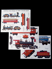 Piecemakers 2000 Calendar Photo Transfers for Trains - on fabric