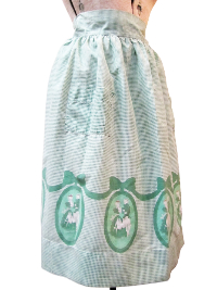Vintage Apron—Green and White