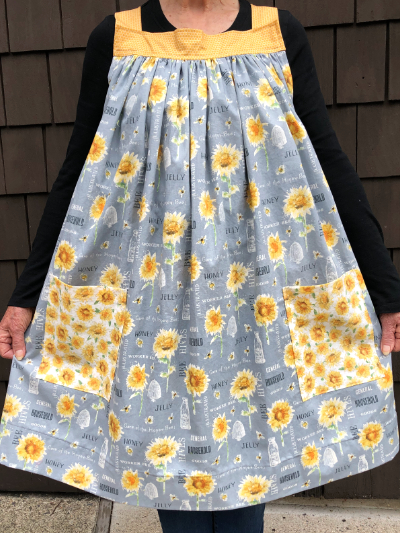 Popover Pinafore Apron — Sunflowers