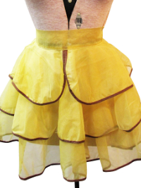 Vintage Apron—Yellow with Brown Trim