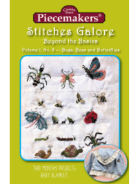 Stitches Galore:  Beyond the Basics—Volume 1, No. 8—Bugs, Bees and Butterflies_THUMBNAIL