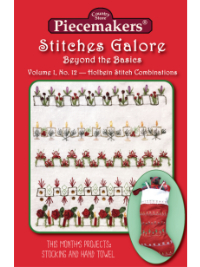 Stitches Galore:  Beyond the Basics—Volume 1, No. 12—Holbein Stitch Combinations_THUMBNAIL