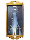 Hand Painted Wall Hanging Key Holder with Original Artwork - Nativity Scene Mini-Thumbnail