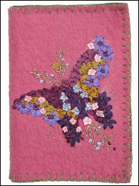 Felt Needlebook with Embroidered Butterfly