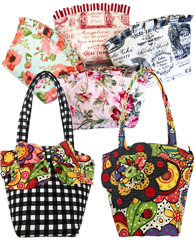 Patti D's Make-Up Bag and Mini Tote