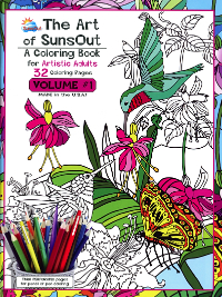 The Art of SunsOut – A Coloring Book for Artistic Adults – Volume #1