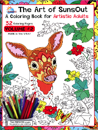 The Art of SunsOut – A Coloring Book for Artistic Adults – Volume #2