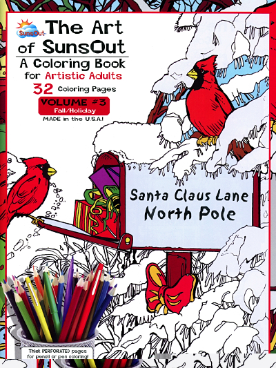 The Art of SunsOut – A Coloring Book for Artistic Adults – Volume #3