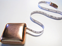 Shimmery Rose Gold Tape Measure